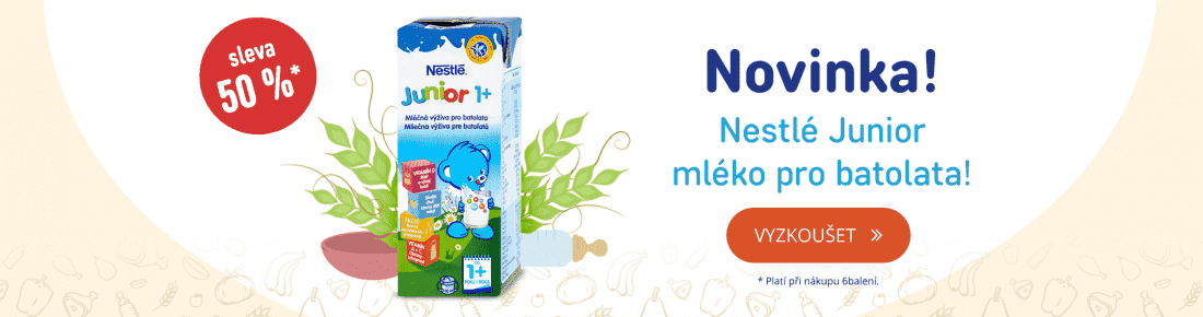 Novinka: Nestlé junior se slevou 50 %!