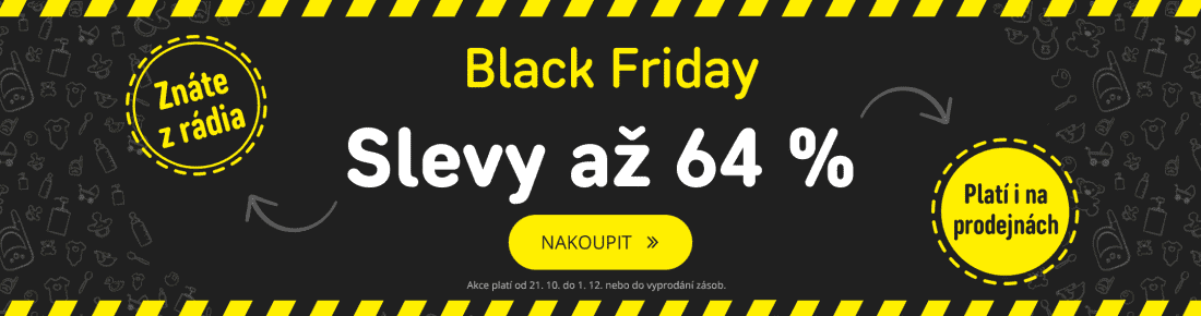 Black Friday slevy až 64 %!