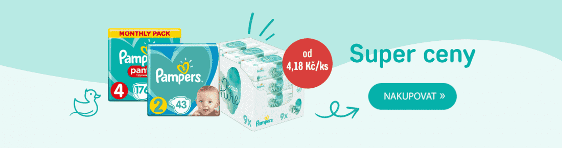 SUPER ceny Pampers