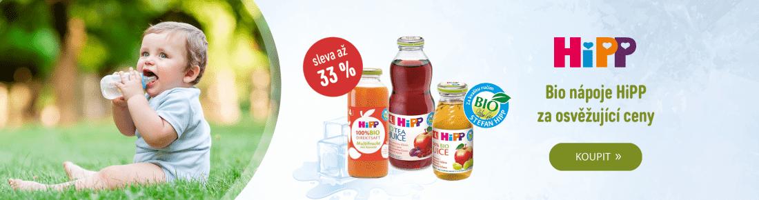 HiPP nápoje se slevou až 33 %