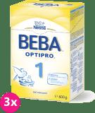 3x NESTLÉ BEBA 1 OPTIPRO (600 g) - dojčenské mlieko