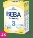 3x NESTLÉ BEBA 3 OPTIPRO (600 g) - kojenecké mléko