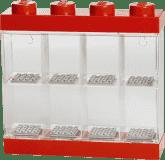 LEGO® Sběratelská skříňka na 8 minifigurek, červená