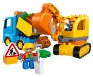 LEGO® DUPLO® 10812 Ciężarówka i koparka gąsienicowa