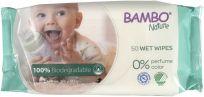 BAMBO Nature Biodegradibilní vlhčené ubrousky, 50 ks