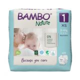 BAMBO Nature Jednorázové plienky 1, 22 ks, pre 2-4 kg