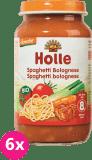 6x HOLLE Bio Boloňské špagety - masozeleninový příkrm, 220 g