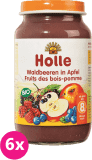 6x HOLLE Bio Lesní plody v jablku - ovocný příkrm, 220 g