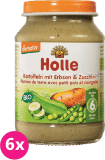 6x HOLLE Bio Zemiaky, hrášok a cuketa, 190 g - zeleninový príkrm