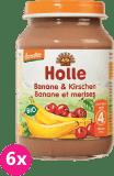 6x HOLLE Bio Banán a čerešne, 190 g - ovocný príkrm