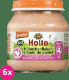 6x HOLLE Bio Kuřecí maso - masový příkrm, 125 g
