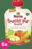 6x HOLLE Bio Pyré mrkev, mango, banán, hruška – ovocný příkrm, 90 g