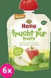 6x HOLLE Bio Pyré hruška, jablko a špenát – ovocnou-zeleninový příkrm, 90 g
