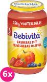 6x BEBIVITA Jablká s jahodami a čučoriedkami (250 g) - ovocný príkrm
