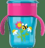 AVENT Kubek do nauki samodzielnego picia 260 ml – różowy