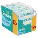 12x PAMPERS Fresh Clean 64 szt. bez wieczka - chusteczki nawilżane