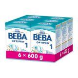 6x BEBA OPTIPRO 1 (600 g) - dojčenské mlieko