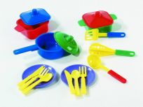 ALLTOYS Jídelní set - talířky + příbory