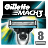 GILLETTE Mach 3 8szt – dodatkowe głowice