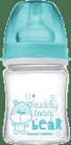 CANPOL BABIES 79/001 Fľaša EasyStart PURE glass 120 ml – ružová