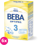 6x BEBA OPTIPRO 3 (600 g) - dojčenské mlieko
