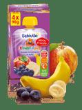 BEBIVITA ovocná kapsička Banán a čučoriedky v jablku (4x90g)