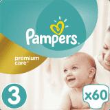 PAMPERS Premium Care 3 MIDI 60ks (6-10 kg) - jednorazové plienky