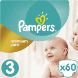 PAMPERS Premium Care 3 MIDI 60 szt. (6-10 kg), VALUE PACK - pieluchy jednorazowe