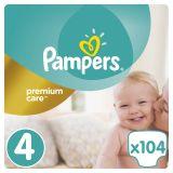 PAMPERS Premium Care 4 MAXI 104 szt. (8-14 kg) MEGA Box - pieluchy jednorazowe