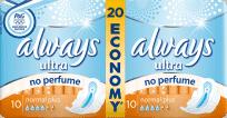 ALWAYS Ultra DUO Normal Plus (20ks) – dámské vložky (Premium klub)
