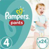PAMPERS Pants 4, 24ks (8-14 kg) CARRY Pack - plienkové nohavičky