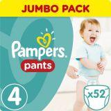 PAMPERS Pants 4, 52ks (9-15 kg) JUMBO Pack - plienkové nohavičky