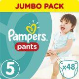 PAMPERS Pants 5, 48ks (11-18 kg) JUMBO Pack - plienkové nohavičky
