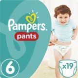 PAMPERS Pants 6, 19ks (15+ kg) CARRY Pack - plienkové nohavičky