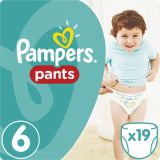 PAMPERS Pants 6 EXTRA LARGE 19 szt. (15+kg), CARRY PACK - pieluchomajtki