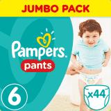 PAMPERS Pants 6 EXTRA LARGE 44 szt. (15+kg), JUMBO PACK - pieluchomajtki
