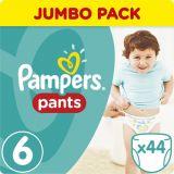 PAMPERS Pants 6, 44ks (15+ kg) JUMBO Pack - plienkové nohavičky