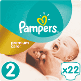 PAMPERS Premium Care 2 MINI 22 szt. (3-6kg), CARRY PACK - pieluchy jednorazowe