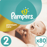 PAMPERS Premium Care 2 MINI 80ks (3-6kg) VALUE Pack – jednorázové pleny