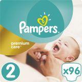 PAMPERS Premium Care 2 MINI 96ks (3-6kg) JUMBO Pack - jednorazové plienky