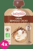 BABYBIO Kapsička krém, kakao, krupička 4 x 85 g