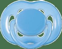 AVENT Cumlík Sensitive 1ks (silikón) 6-18 m, modrý