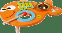 SCRATCH Hudobný stolík 3v1 Rybička