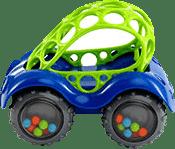 OBALL Zabawka samochodzik Rattle; Roll™, niebieski, 3m+