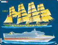 LARSEN Puzzle Lodná doprava 20 dielikov