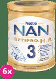 6x NESTLÉ NAN OPTIPRO H.A. 3 (400 g) Mleko modyfikowane dla dzieci po 1. roku życia