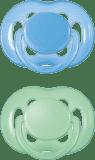 AVENT Šidítko sensitive, 2 ks (6 - 18 měsíců) – modrá a zelená
