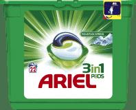 ARIEL Active Gel Mountain Spring All in 1 (22ks) - gelové prací kapsle