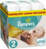 PAMPERS Premium Care 2 MINI 240 szt. (3-6kg), ZAPAS NA MIESIĄC - pieluchy jednorazowe