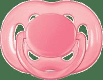 AVENT Cumlík Sensitive 1ks (silikón) 6-18 m, ružový